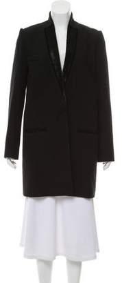Isabel Marant Fur-Trimmed Wool Coat