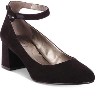 Bandolino Odear Ankle-Strap Block Heel Pumps Women Shoes