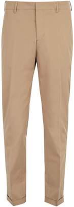 Prada Straight-leg cotton-blend chino trousers