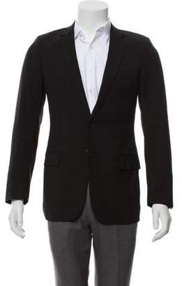 Christian Dior Wool Notch-Lapel Blazer black Wool Notch-Lapel Blazer