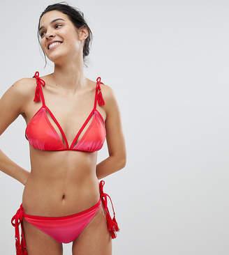 Vero Moda Triangle Dip Dye Bikini Top