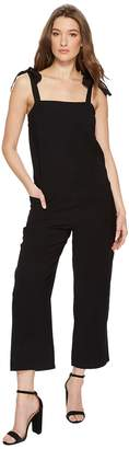 1 STATE 1.STATE Tie Shoulder Patch Pocket Overalls Women's Jumpsuit & Rompers One Piece