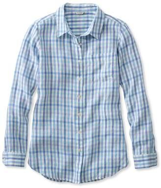 L.L. Bean L.L.Bean Premium Washable Linen Shirt, Tunic Gingham
