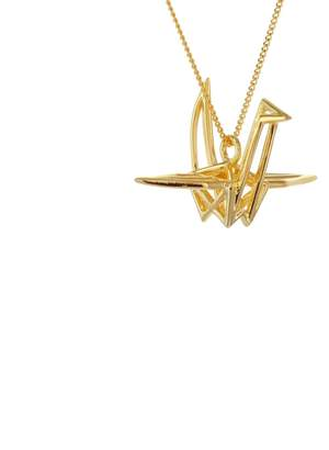 Origami Jewellery Frame Crane Necklace Gold