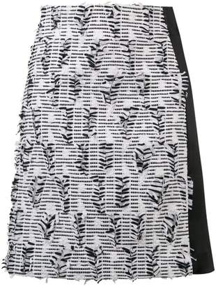 Karl Lagerfeld embroidered fitted skirt