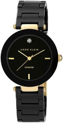 Anne Klein Round Ceramic Bracelet Watch, 33mm