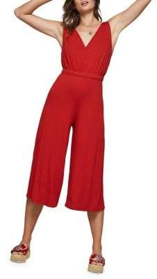 Miss Selfridge Cropped Wide-Leg Jumpsuit