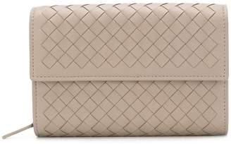 Bottega Veneta woven foldover purse