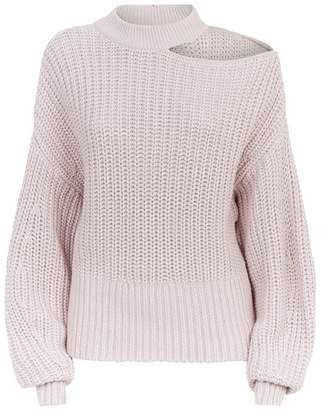 Self-Portrait Chunky Cut-Out Sweater