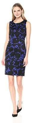 Kasper Women's Printed Scuba Crepe Sheath Dress