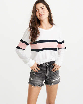 Abercrombie & Fitch Long-Sleeve Colorblock Tee