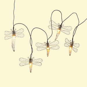 Copper Dragonfly String Lights