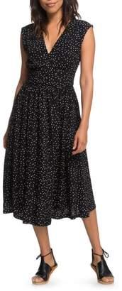 Roxy Retro Poetic Polka Dot Dress