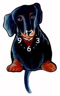 Breed Dog Pendulum Clocks - Dachshund