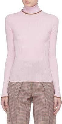 Acne Studios Merino wool rib knit turtleneck sweater