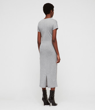 AllSaints Paloma Drape Dress