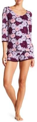Maidenform Lace Trim Top & Shorts Pajama Set