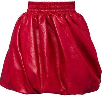 Miu Miu pleated detail skirt