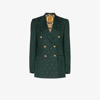 Gucci GG Print Wool Blazer