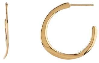 Argentovivo 18K Gold Plated Sterling Silver Wavy Hoop Earrings