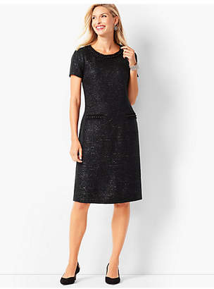 Talbots Tweed and Pearl Shift Dress