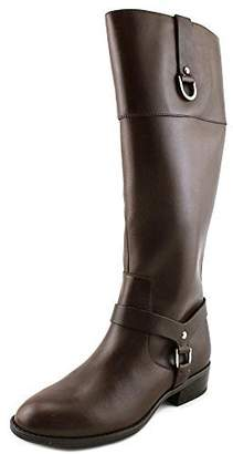 Ralph Lauren by Ralph Womens Mesa Leather Closed Toe Mid-Calf, Black, Size 8.5