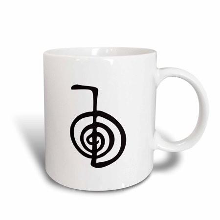 3dRose Reiki power symbol cho ku rei choku rei for protection cleaning clearing energy or boosting healing, Ceramic Mug, 15-ounce