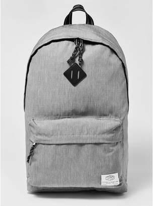 Topman Mens Grey Gray Branded Backpack