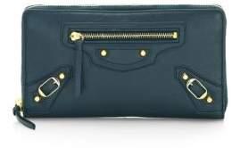 Balenciaga Arena Leather Continental Wallet