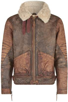 Polo Ralph Lauren Leather and Shearling Aviator Jacket
