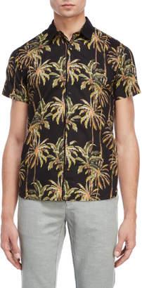 Scotch & Soda Palm Tree Short Sleeve Shirt