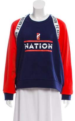 P.E Nation Logo Coloblock Sweatshirt