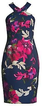 Trina Turk Women's Jazzy Ace Floral Halterneck Dress
