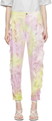 Stella McCartney Purple and Yellow Tie-Dye Trousers