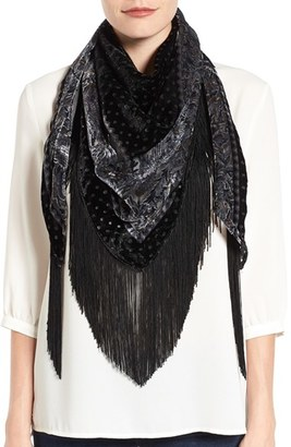Collection XIIX Fringe Triangle Scarf $48 thestylecure.com