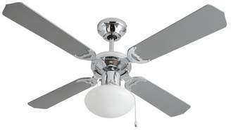 HOME Ceiling Fan - Grey and Chrome