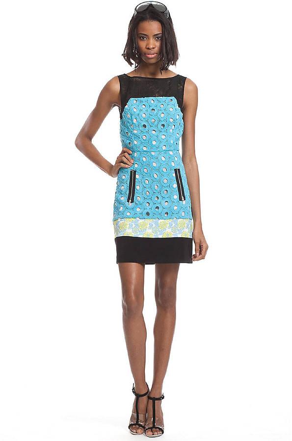 Tracy Reese Sleeveless Mixed Media Dress