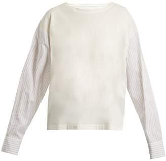 MM6 MAISON MARGIELA Striped-sleeve cotton top
