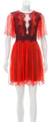 Three floor Lace Mini Dress w/ Tags