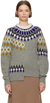 Joseph Multicolor Fair Isle Patchwork Sweater