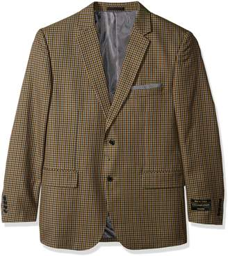 Alexander Julian Colours Men's Big & Tall Single Breasted Modern Fit Check Sportcoat