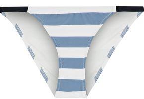 Solid & Striped The Morgan Striped Low-rise Bikini Briefs