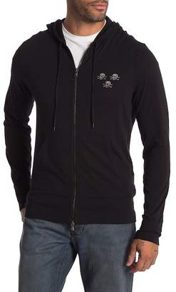 John Varvatos Skull Flag Zip-Up Hoodie