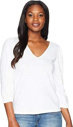 fac8525a94c8f9 Lucky Brand Women's Eyelet Peasant TOP