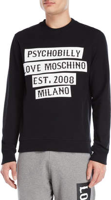 Love Moschino Psychobilly Logo Sweatshirt