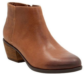 Clarks Gelata Italia Leather Ankle Boots $140 thestylecure.com