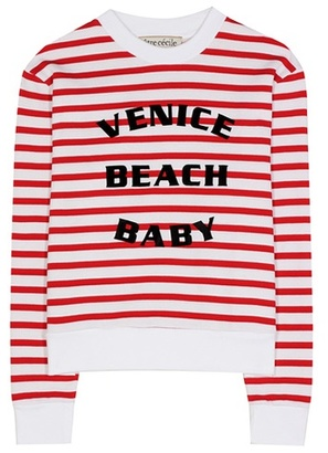 Être Cécile Striped printed cotton sweatshirt