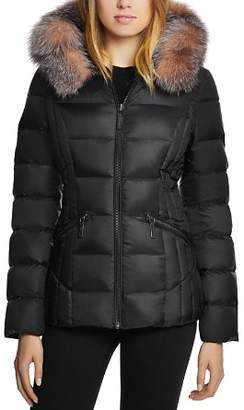 Dawn Levy Nikki Saga Fur Trim Short Down Coat