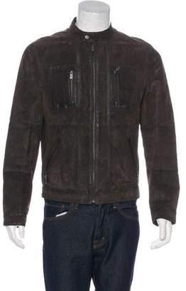 Michael Kors Suede Biker Jacket