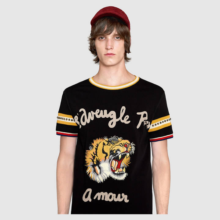Cotton t-shirt with tiger 2